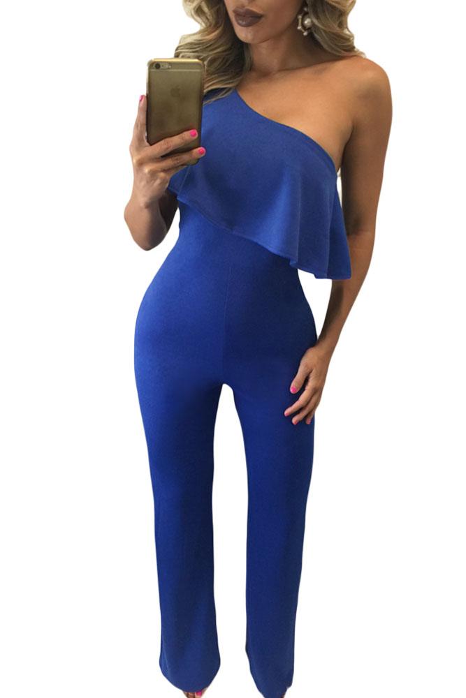 Lastest 2017 Suit Dress Sexy Royal Blue Jumpsuit Black Clothes Jumpsuits Amp Rompers For Summer Bodysuit ...