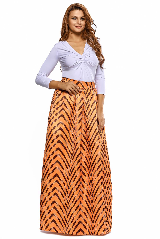 Women African Print Maxi Skirt Dress Sexy Autumn Color ...