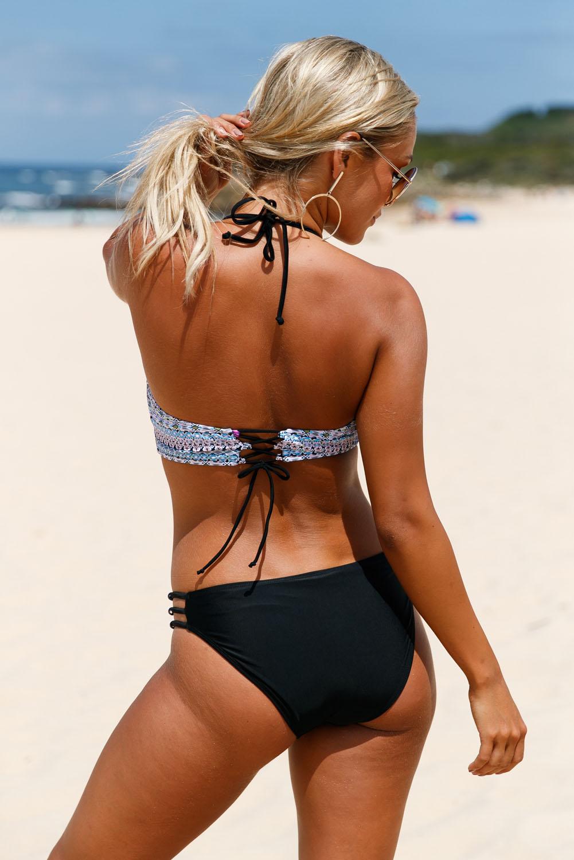 Tribal dream bikinioberteil und festes side strap bikini set badeanzug damen
