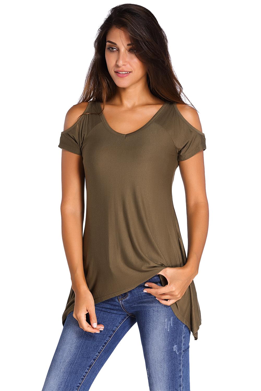 7 Best Swings Images On Pinterest: Women Clothing V Neck Cold Shoulder Swing Top Cute Summer