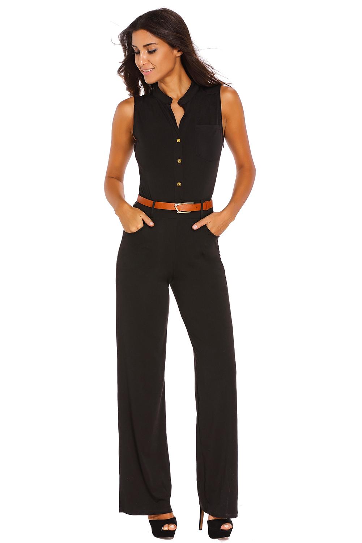 ceinture grand jambe combinaison pantalon femme d contract t automne bref ebay. Black Bedroom Furniture Sets. Home Design Ideas