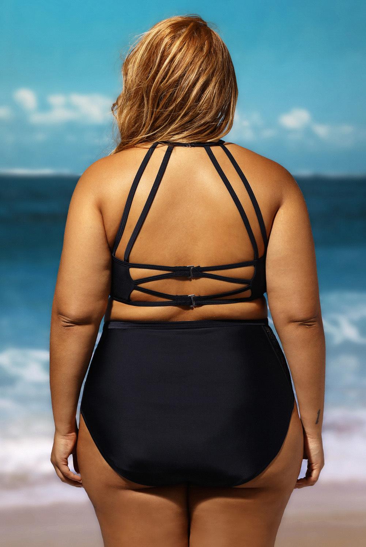 64c75bbc51 Women Patterned Mesh Insert Plus Size Swimwear Casual Summer Cute ...