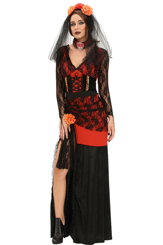 day of the dead diva halloween costume dress