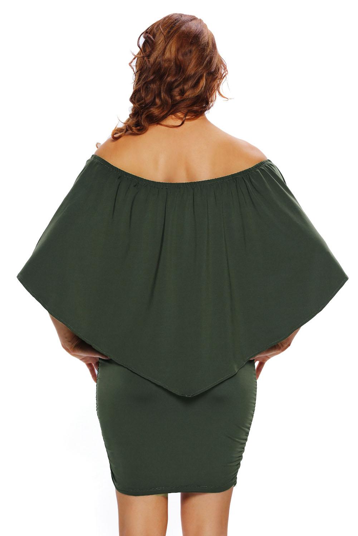 Multiple dressing layered mini dress elegant cocktail evening women ...