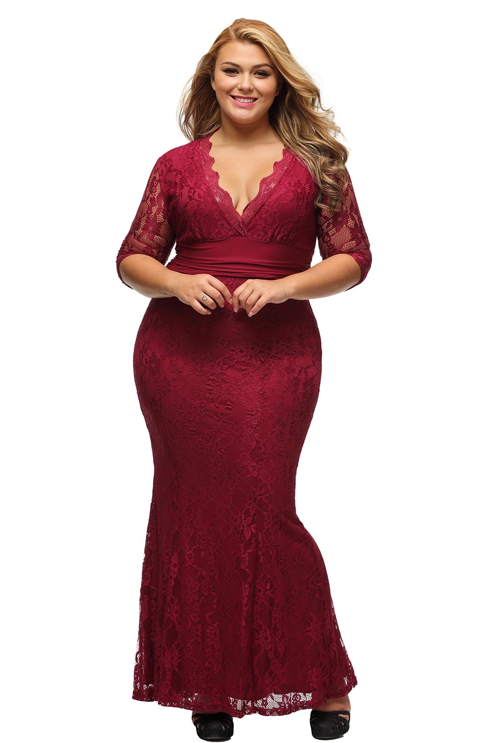 Women Plus Size Party Gown Stage Dance Wear Brief Cute ...