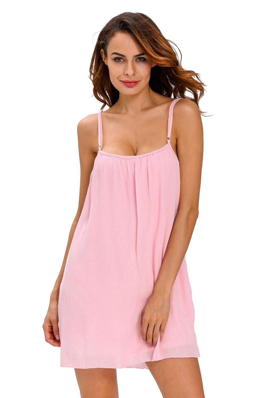 16677b806a00 Detalles de Vestido de playa arrugado azul vintage ropa verano mujer