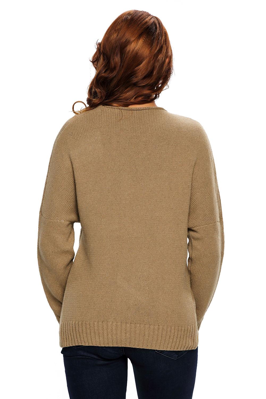 Long-sleeve-chunky-cross-wrap-v-neck-tunic-pullover-sweater-womens-jumper-cute thumbnail 11