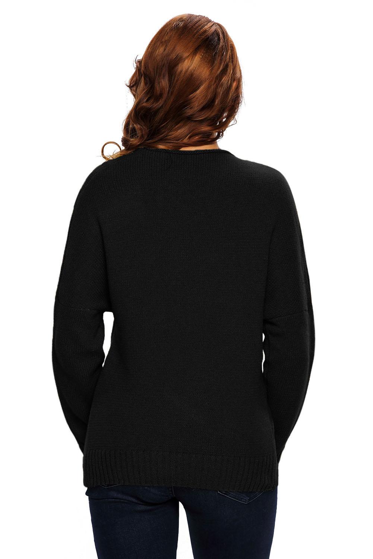 Long-sleeve-chunky-cross-wrap-v-neck-tunic-pullover-sweater-womens-jumper-cute thumbnail 6