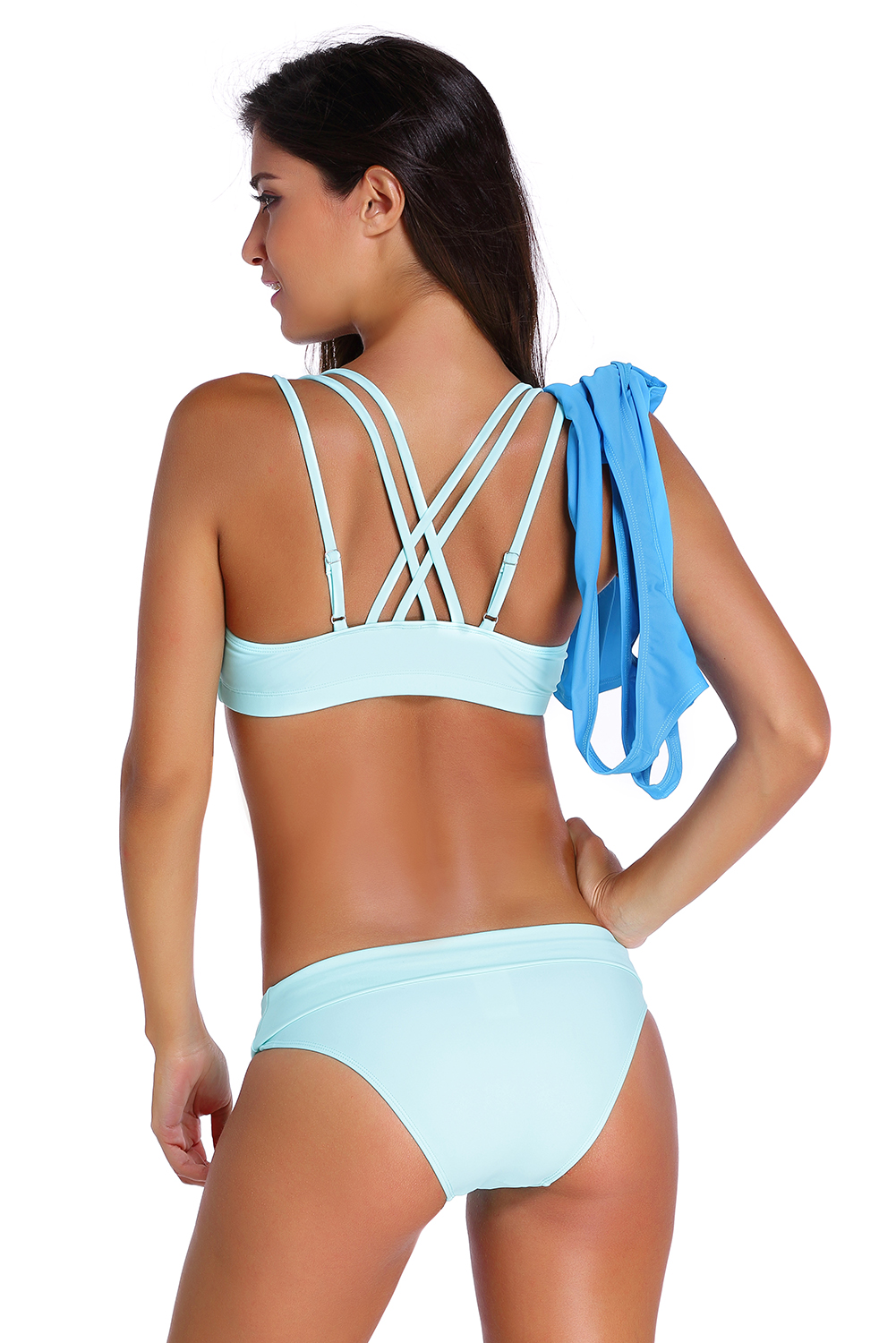 6b1d9d74e477a Sports Bra Tankini Swimsuit With Vest Summer Brief Sexy Beach Color ...