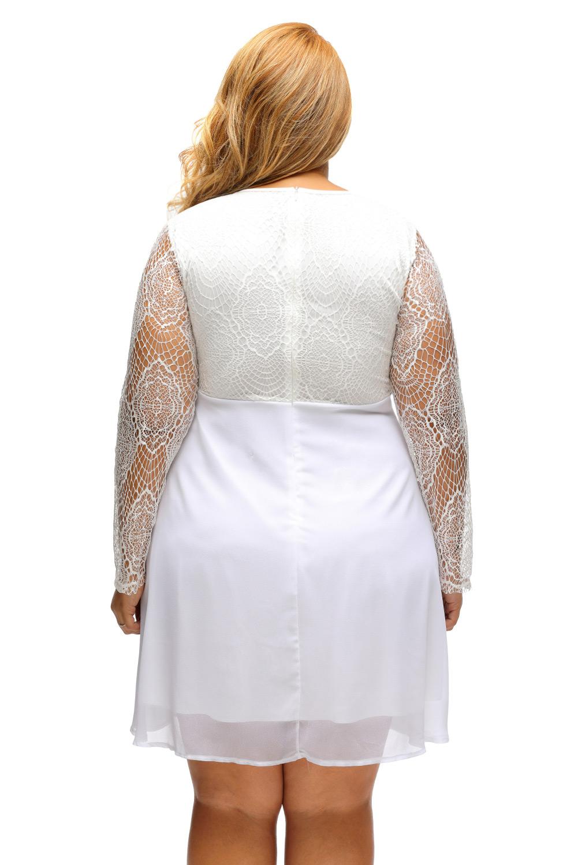 White skater dress size 6