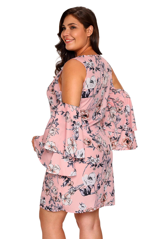 Vestido verano estampado floral con hombros descubiertos tallas ...