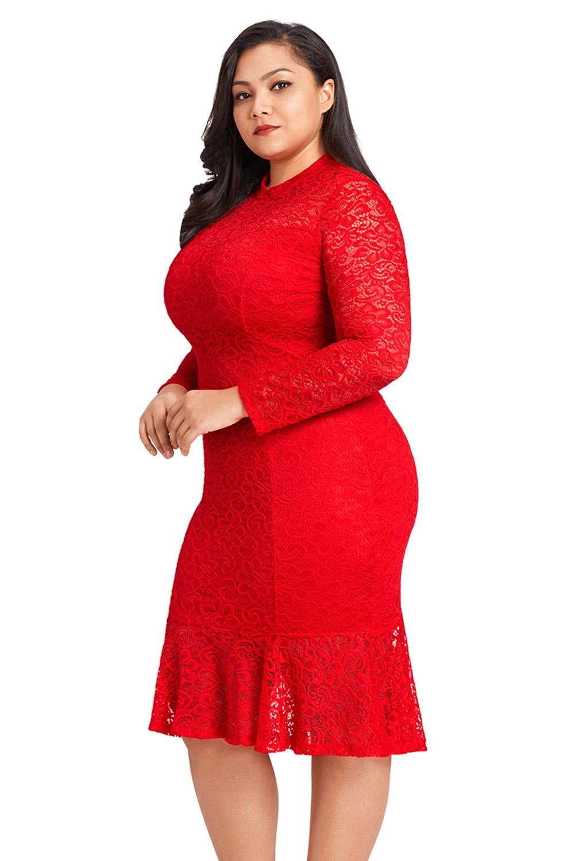 Plus Size High Low Lace Dresses