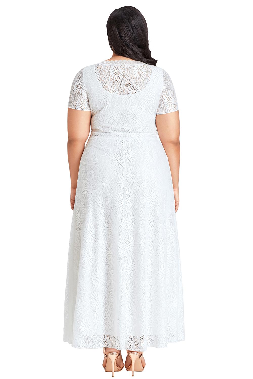 Schwarz Übergröße kurviges spitze party kleid abendkleid damen | eBay
