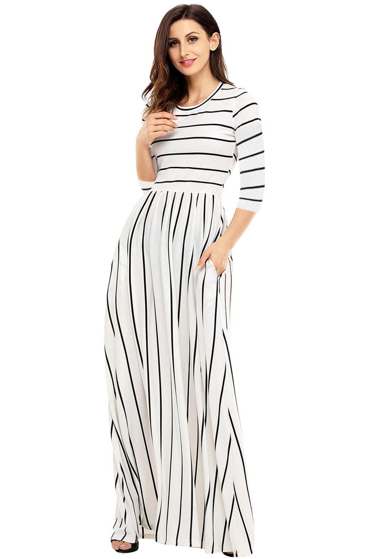 Vestido-largo-maxi-casual-de-rayas-blancas-y-azules-mujer