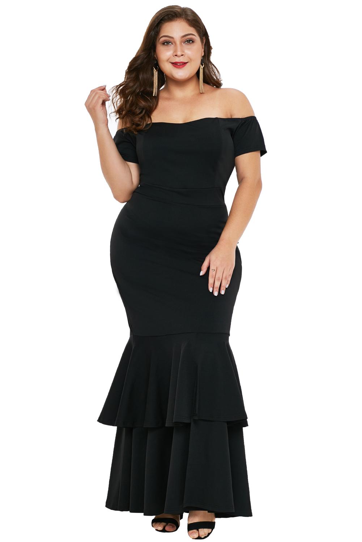 74a47751a Vestido de noche sirena mujer formal elegante fiesta ceremonia ...
