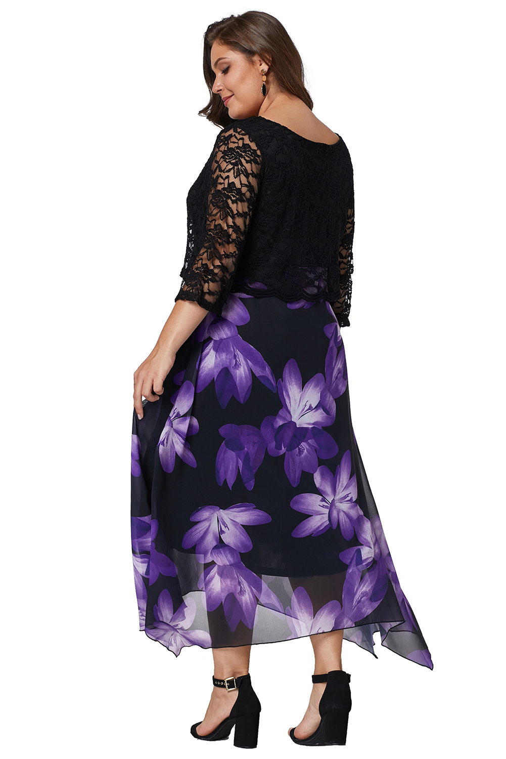 26 WITH STRETCH 3//4 SLEEVES BNWT RELAXX ALL OVER PRINT PLUS SIZE DRESS,SIZE 24