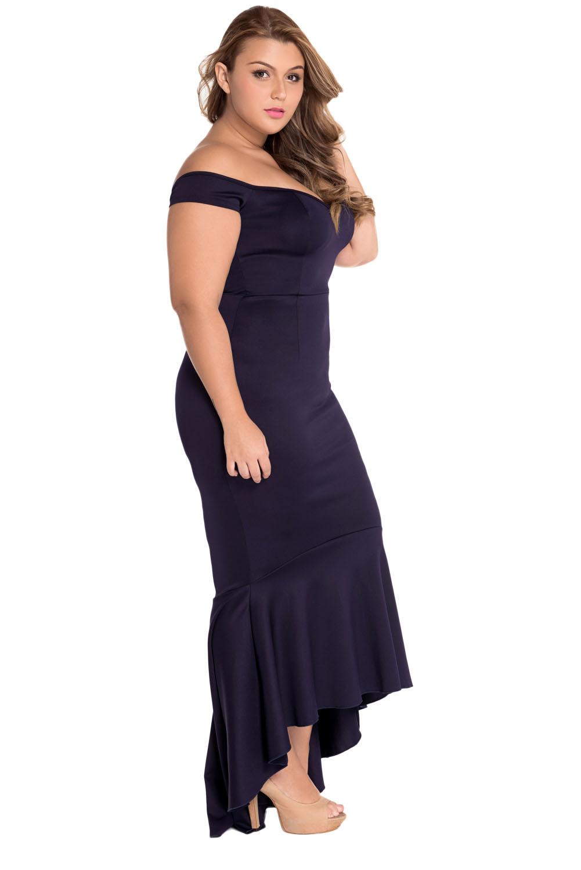 Off-schulter Meerjungfrau Jersey Abend Kleid Rückenfrei ...