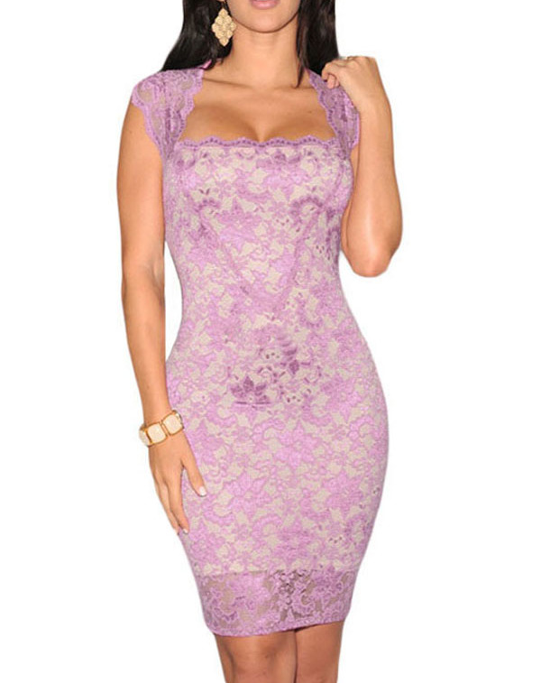 Women-Lace-Nude-Illusion-Dress-Vintage-Club-Night-Summer-Autumn-Patchwork-Sexy