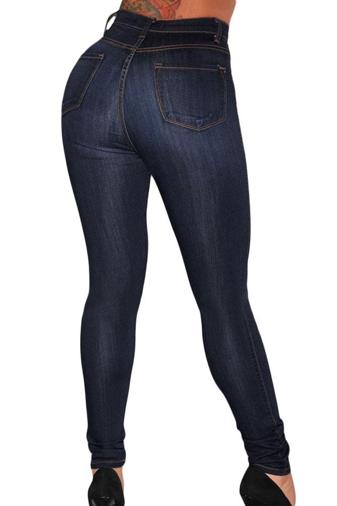 Womens high waisted skinny black jeans