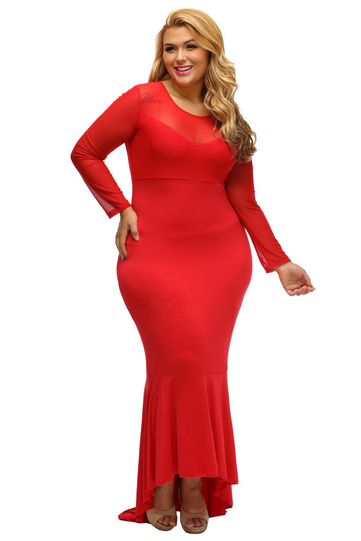 Vestido corte de sirena rojo
