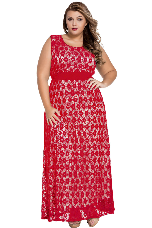 Vestito-donna-elegante-lungo-in-pizzo-floreale-cintura-linea-impero-vita-alta