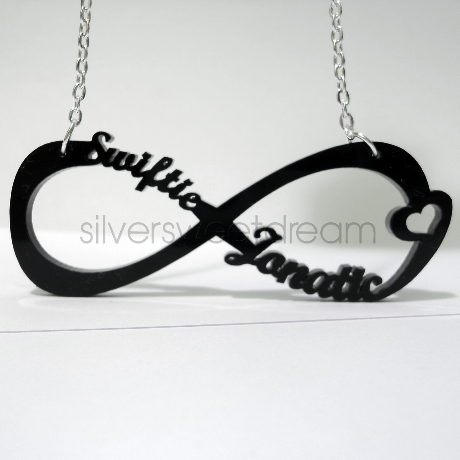 infinite love silver infinity sign dogeared necklace sterling